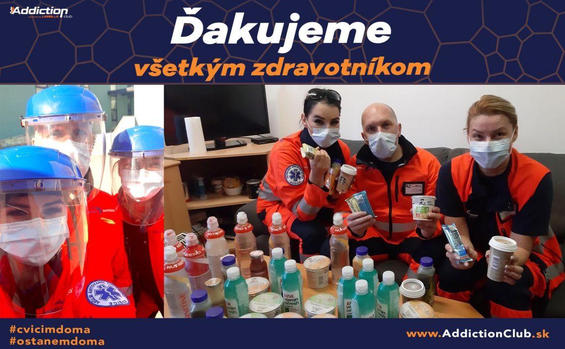 Fitness centrum podporilo zdravotníkov v Košiciach
